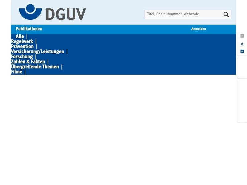 Screenshot von www.dguv.de/publikationen